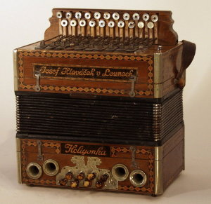 Hlavacek Heligonka Button Accordion, c.1900
