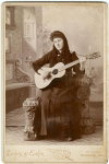 Cabinet Card of Woman with Guitar, c. 1890's