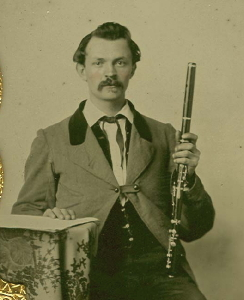 Ambrotype of  Musician with Flute,  c. Late 1850's