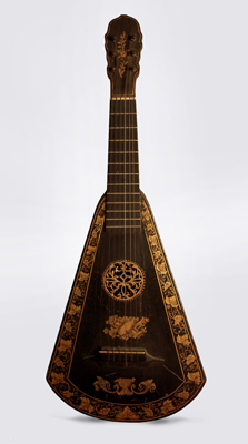Harp Guitar, from the workshop of A. Barry ,  c. 1805