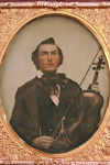 Ambrotype of  man with violin,  c. 1850's