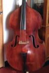 Upright Bass  - formerly owned  by jazz bassist Teddy Kotick,  c. 1900