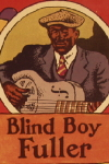 Album Slick of  R. Crumb drawn cover for Blind Boy Fuller's Truckin' My Blues Away (1978)