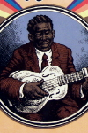 Album Slick of  R. Crumb drawn cover for Bottleneck Blues Guitar Trendsetters of the 1930's,  c. 1970