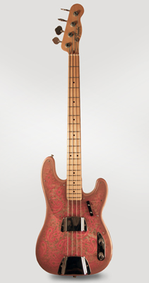Fender  Telecaster Bass Pink Paisley Solid Body Electric Bass Guitar  (1968)