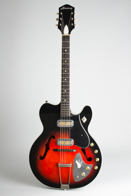 Harmony  H66 Vibra-Jet Thinline Hollow Body Electric Guitar (1964)