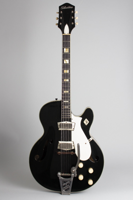 Silvertone Model 1446L Thinline Hollow Body Electric Guitar, made by Harmony  (1960's)